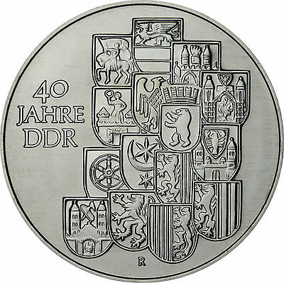 GDR 10 Mark 1989 uncirculated 40 years DDR in capsule