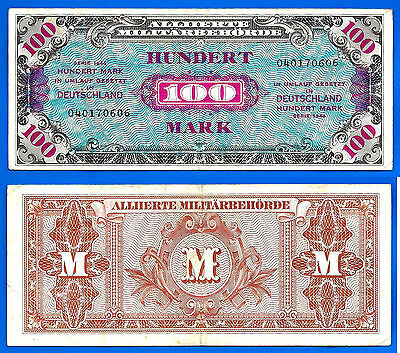 Germany 100 Mark 1944 Deutschland WWII Military Banknote Print by USA  Free Ship