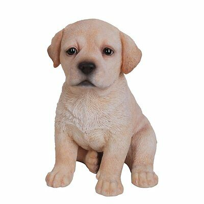 Labrador Golden Puppy Vivid Art Pet Pals Garden Ornament