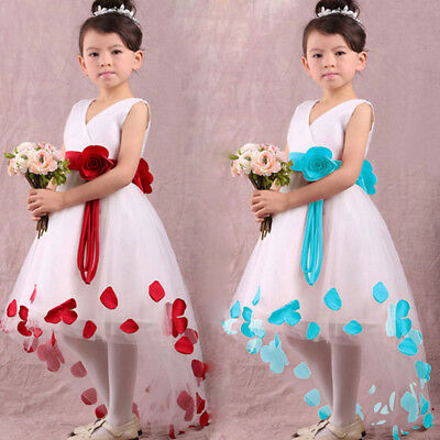 Princess Flower Girl Dress Sleeveless Formal Party Dress Wedding Bridesmaid