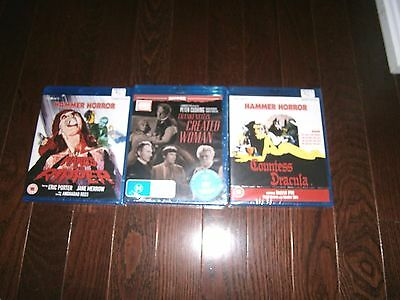 3 Hammer Blue Rays, Countess Dracula, Frank Created Woman,hands Ripper, Pal Form