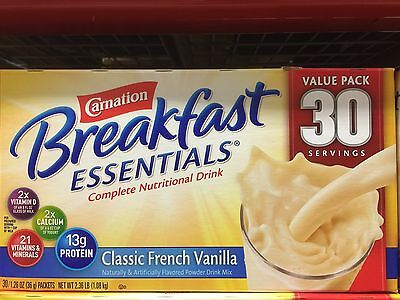 Carnation Breakfast Essentials - Classic French Vanilla - 30 Count