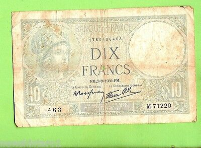 France 2  Francs   Banknote, 1939, Low Grade