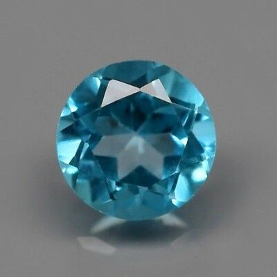Only! $6.68/1pc 5mm Round Natural Medium Blue Topaz, Brazil