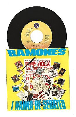 The Ramones I Wanna Be Sedated PROMO 45 Record Pix Sleeve LP-Mega MIX VERSION M-