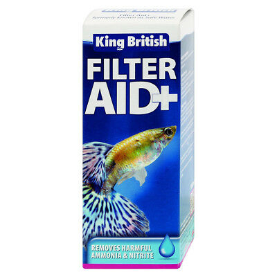 King British Filter Aid 100ml Aquarium Tank Water Treatment