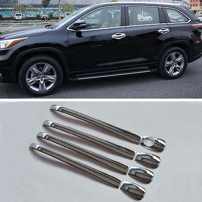 Stainless Steel Door Handle Cover Chrome Trim For Toyota Highlander 2015 2016