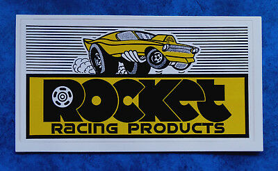 MOON    -  Vintage  Racing  sticker   -  MOON EYES