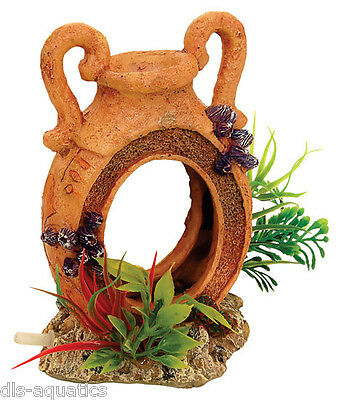 Pot Jug With Airstone Plants Fish Tank Bubbling Aquarium Fish Tank Cave AQ28665