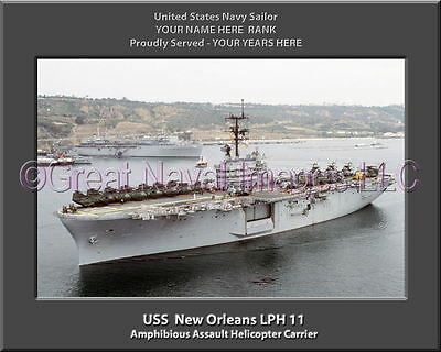 USS New Orleans LPH 11 Personalized Canvas Ship Photo Print Navy Veteran Gift