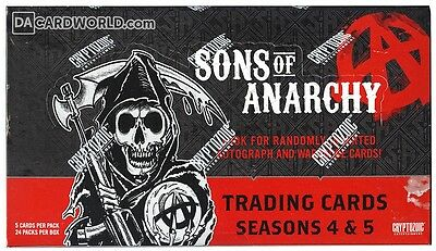 Sons of Anarchy Seasons 4-5 Trading Cards Box (Cryptozoic 2015)