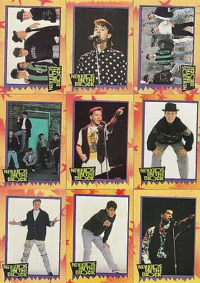 New Kids On The Block 1 1990 Topps Complete Base Card & Sticker Set 88 + 11 Mu