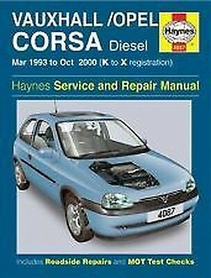 Haynes Owners + Officina Auto Manuale Opel Corsa Diesel 93- 00 4087