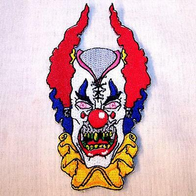 CRAZY CLOWN EMBROIDERED PATCH P346  Iron on biker JACKET patches NEW clowns sewn