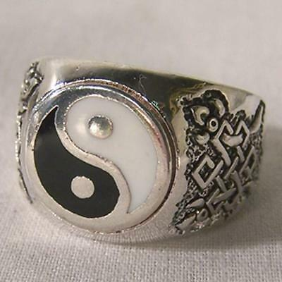 DELUXE YIN YANG SYMBOL BIKERS RING #114R Fashion mens womens new unisex UNITY