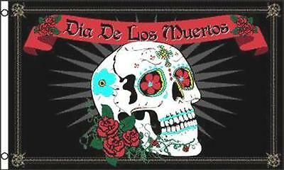 DAY OF THE DEAD 3X5 FLAG FL629 Día de Muertos mexico holiday tradition painted