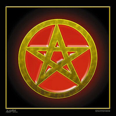 PENTAGRAM WALL BANNER WB15 tapestry decor spiritual large wall hanging flag new
