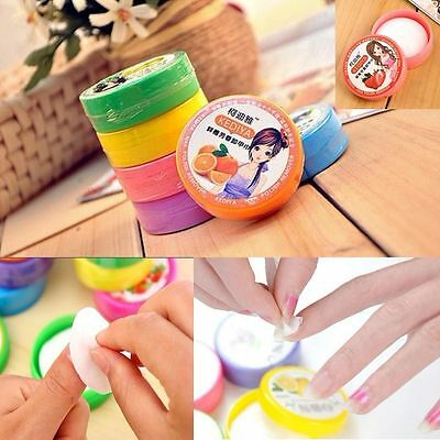 32x Manicure Nail Art Polish Vanish Remover Cleaner Flavor Wet Wipes Pads Paper