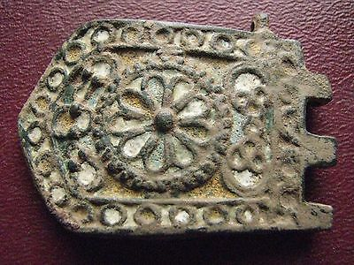 Authentic Ancient Artifact > Byzantine Enameled LARGE Belt Buckle ALS 22