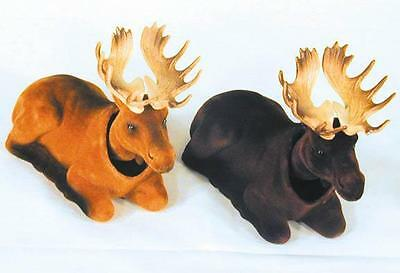 2 MOOSE BOBBING HEADS moving bobble head animal wild car dash novelty new horns