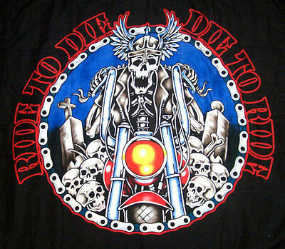 DIE TO RIDE COLORED WALL BANNER WB210 biker tapestry wall decoration flag new
