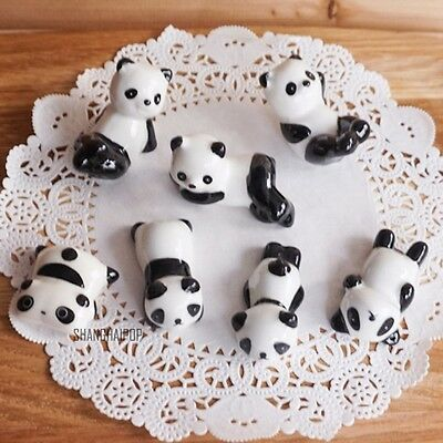 4 X Porcelain Ceramic Panda Chopstick Stand Rest Rack Holder Chinese 4-6cm New