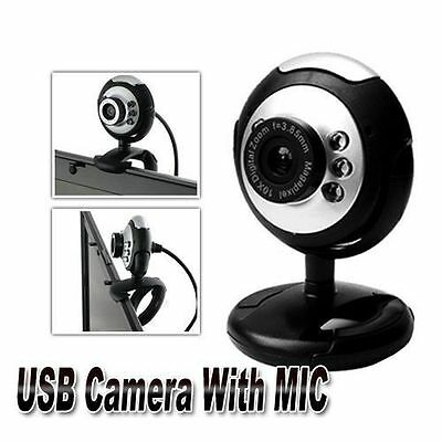 50.0M 6 LED HD Webcam 360 Degree USB 2.0 Camera Web Cam with MIC for Laptop PC