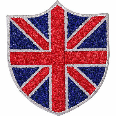 UK Flag Embroidered Iron Sew On Shield Patch Union Jack British Embroidery Badge