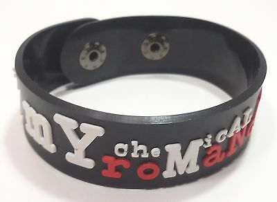 New My Chemical Romance Rubber Bracelet Wristband Unisex White Souvenirs Wb83