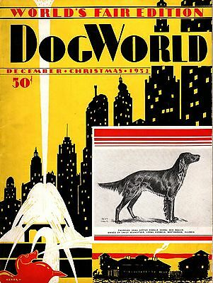 Vintage Dog World Magazine December 1932 Irish Setter Cover