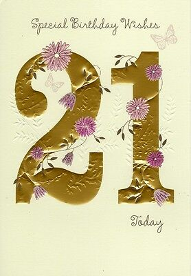 Happy 21st Birthday Greeting Card Lovely Greetings Cards Nice Verse
