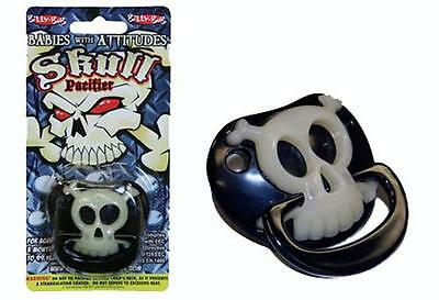 Black Pirate Skull Pacifier Funny Novelty Cute Binky Baby