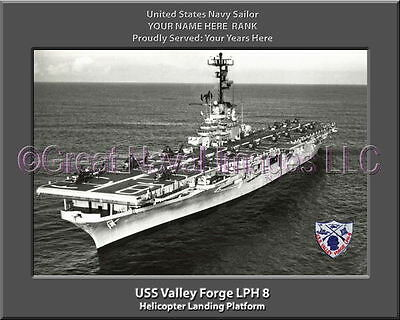 USS Valley Forge LPH 8 Personalized Canvas Ship Photo Print Navy Veteran Gift