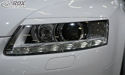 Race Design Headlight Brows Eyelids Eyebrows For Audi A6 4F 08-11 Facelift
