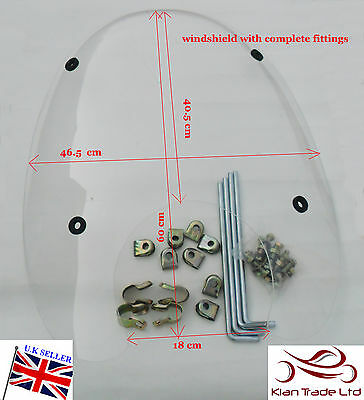 Brand ROYAL ENFIELD Bullet motorcycle bike spare parts WINDSHIELD WITH FITTING