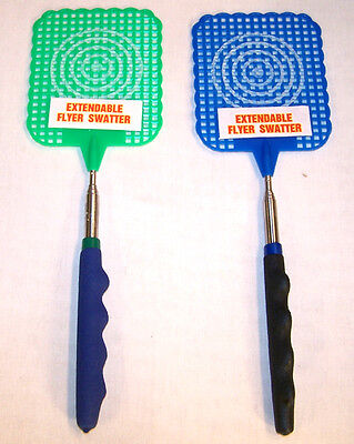 2 EXPANDING FLY SWATTER bug mosquito killer telescope insect expandable reaching