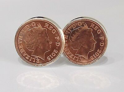 Wedding Favours - Luxury cufflinks made from 2015 pennies for a 2015 wedding