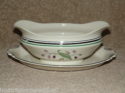 Syracuse Coralbel Gravy Boat with Attached Liner Plate