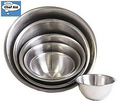 Chef Aid Stainless Steel Bowl 6.6L Chrome Food Prepware Storage Kitchen Home New
