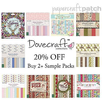 """Dovecraft 8""""x8"""" Papers - 12 Sheet Sample Packs - Your Choice scrapbook papers"""