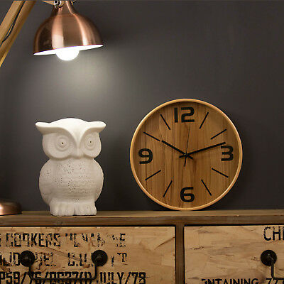 Wall Clock 29cm FRANKIE BEECH Modern Wooden Designer Timber Interior Designer