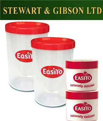 EasiYo Two Extra Jars - New Shape and Two Lunchtakers New Shape