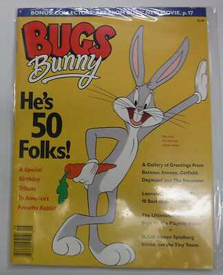 Bugs Bunny Magazine He's 50 Folks! Special Tribute 1990 081515R