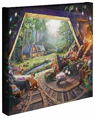 Thomas Kinkade Studios Snow White and the Seven Dwarfs 14 x 14 Wrapped Canvas