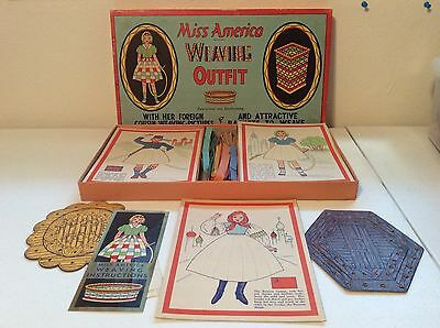 Rare 1937 Miss America Standard ToyKraft Products Weaving Outfit