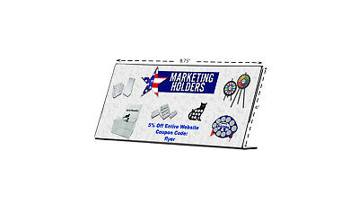 """8.75"""" x 4 Clear Acrylic Side Loading Cosmetology License Sign Holder"""