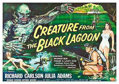 Creature from the Black Lagoon (1954) V3 - A1/A2 Poster BUY ANY 2 AND GET 1 FREE