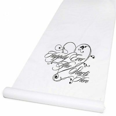 Wedding Aisle Runners White Happily Ever After 100 Feet Long Aisle Runner