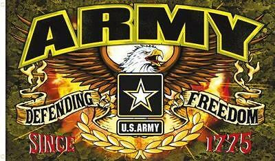 U.S ARMY DEFENDING FREEDOM 3X5 FLAG usa war FL590 eagle usa america military
