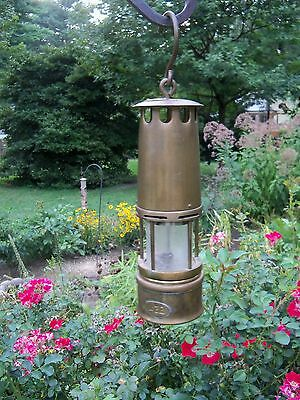 "Antique 10"" Brass 432 Miners Lamp Lantern"